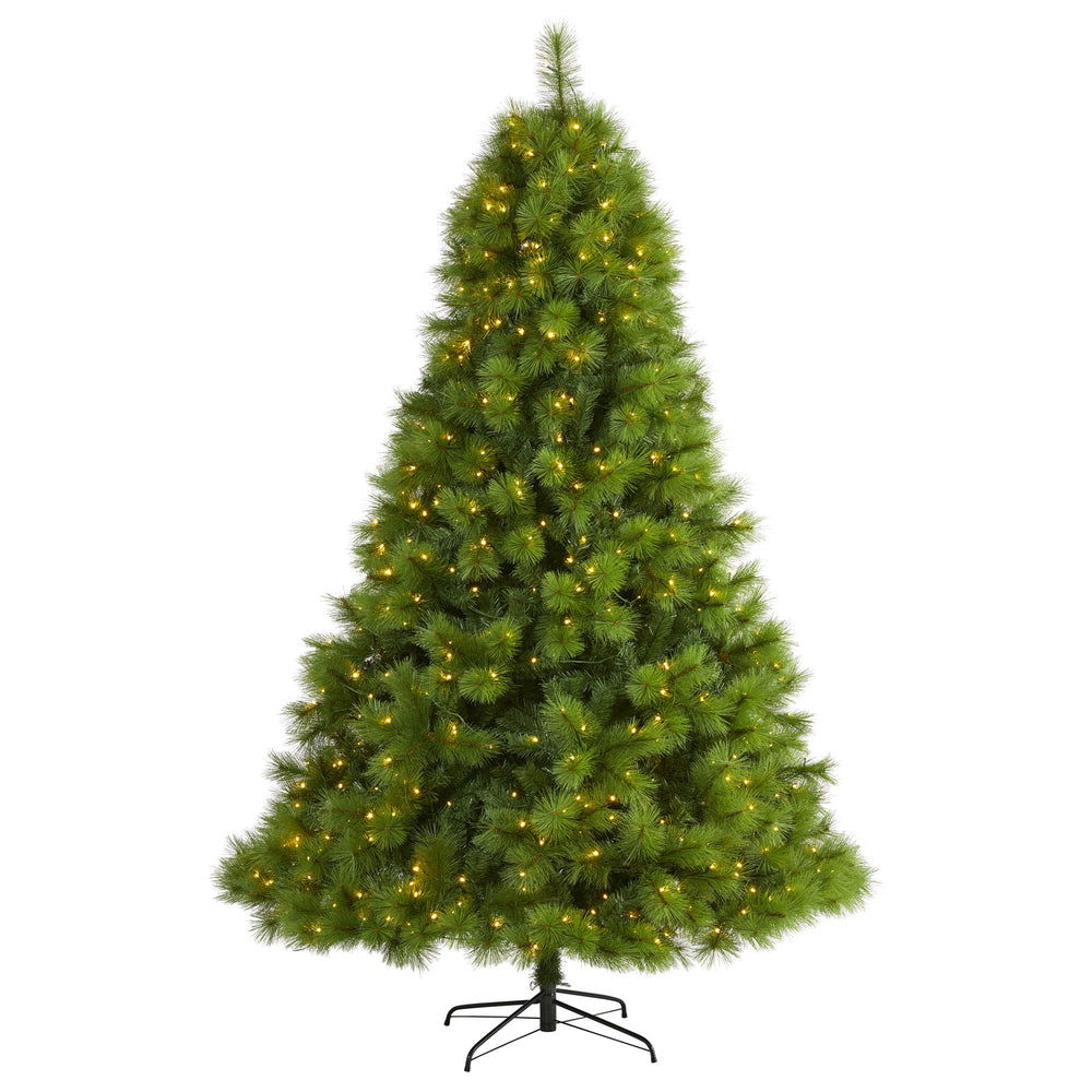 7.5' Green Scotch Pine Artificial Christmas Tree with 550 Clear LED Lights