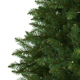 7.5' Green Valley Fir Artificial Christmas Tree with 500 Clear LED Lights