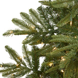 7.5' Layered Washington Spruce Artificial Christmas Tree with 550 Clear LED Lights and 1325 Bendable Branches