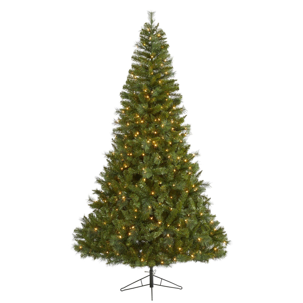 7.5' Mount Hood Spruce Artificial Christmas Tree with 450 Warm White Lights and 1285 Bendable Branches