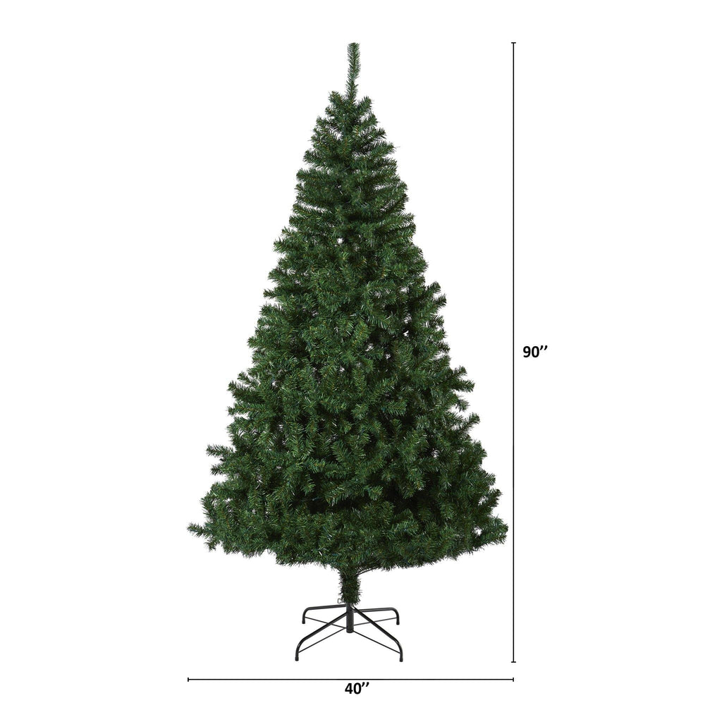 7.5' Northern Tip Pine Artificial Christmas Tree with 400 Clear LED Lights