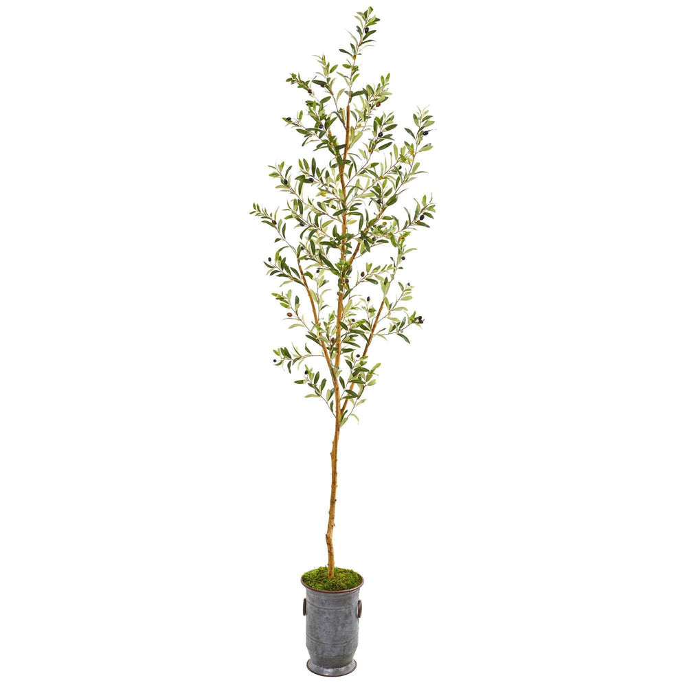 7.5' Olive Artificial Tree in Decorative Planter