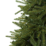 "7.5' Vancouver Fir ""Natural Look"" Artificial Christmas Tree with 600 Clear LED Lights and 2942 Bendable Branches"