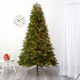 7.5' Washington Fir Artificial Christmas Tree with 600 Clear Lights and 1610 Bendable Branches