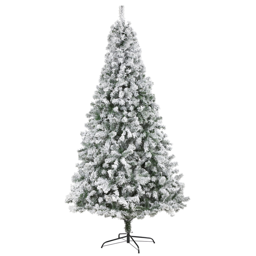 8' Flocked Rock Springs Spruce Artificial Christmas Tree