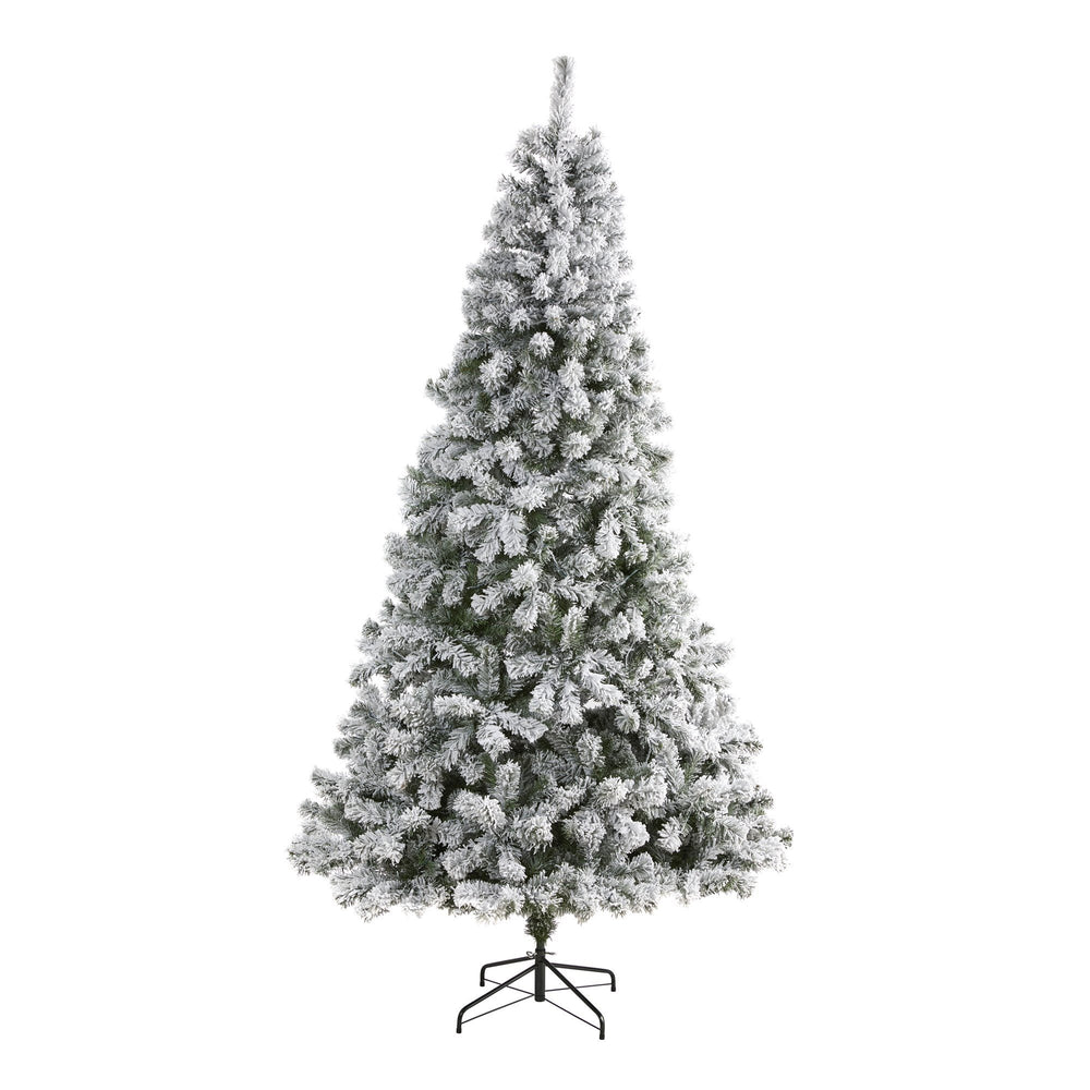8' Flocked West Virginia Fir Artificial Christmas Tree