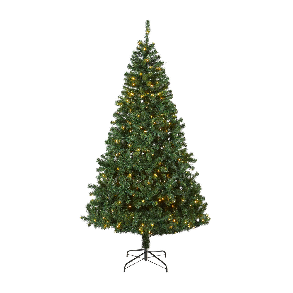 8' Northern Tip Artificial Christmas Tree with 450 Clear LED Lights