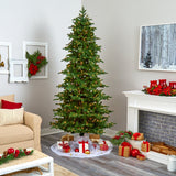 8' South Carolina Fir Artificial Christmas Tree with 650 Clear Lights and 2598 Bendable Branches