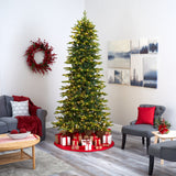 "9' Belgium Fir ""Natural Look"" Artificial Christmas Tree with 800 Clear LED Lights"