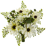 "9"" Mixed Cream Daisy Artificial Flower Bundle (Set of 3)"