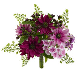"9"" Mixed Pink Daisy Artificial Flower Bundle (Set of 3)"