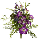 "9"" Morning Glory Artificial Flower Bundle (Set of 3)"