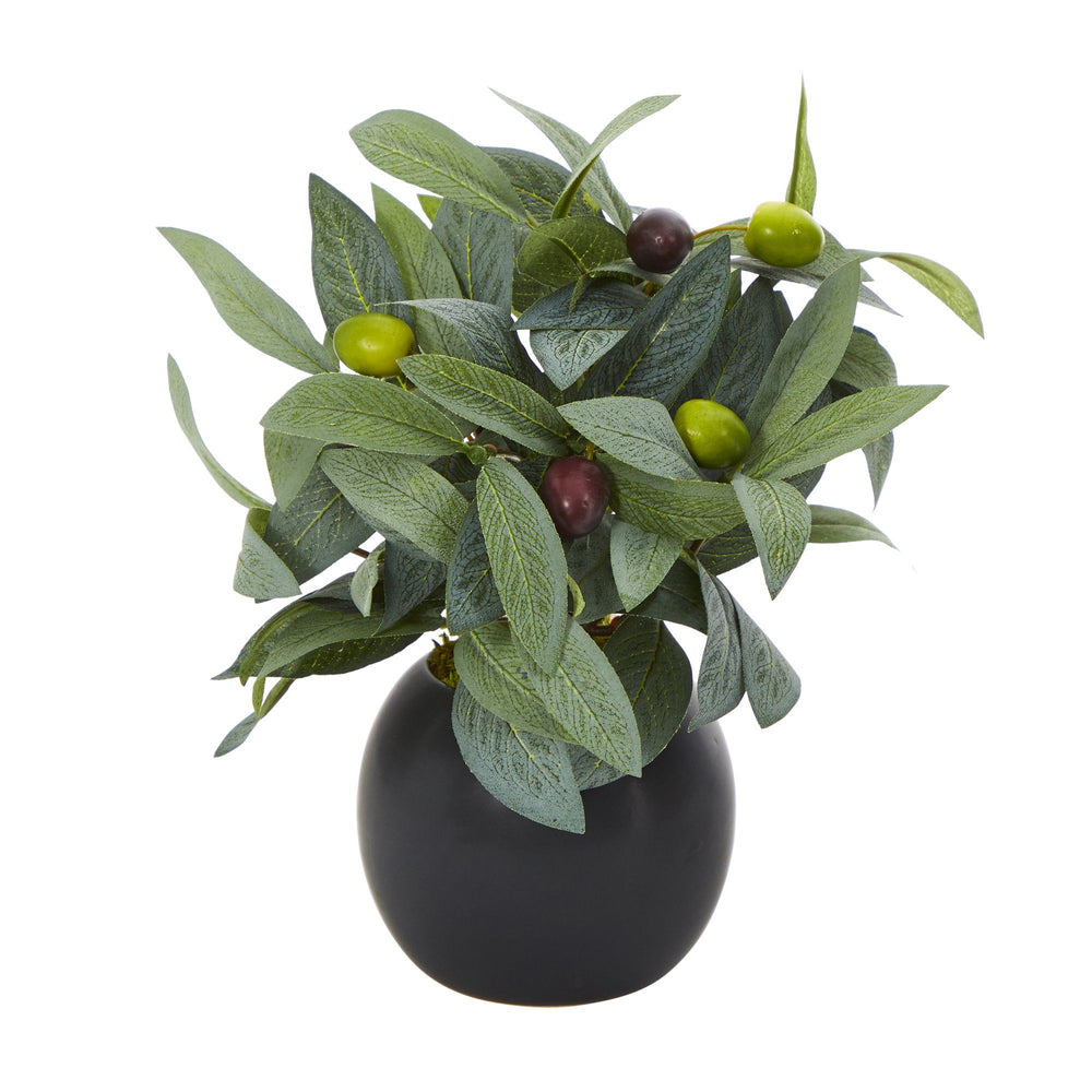 "9"" Olive Artificial Plant in Decorative Planter"