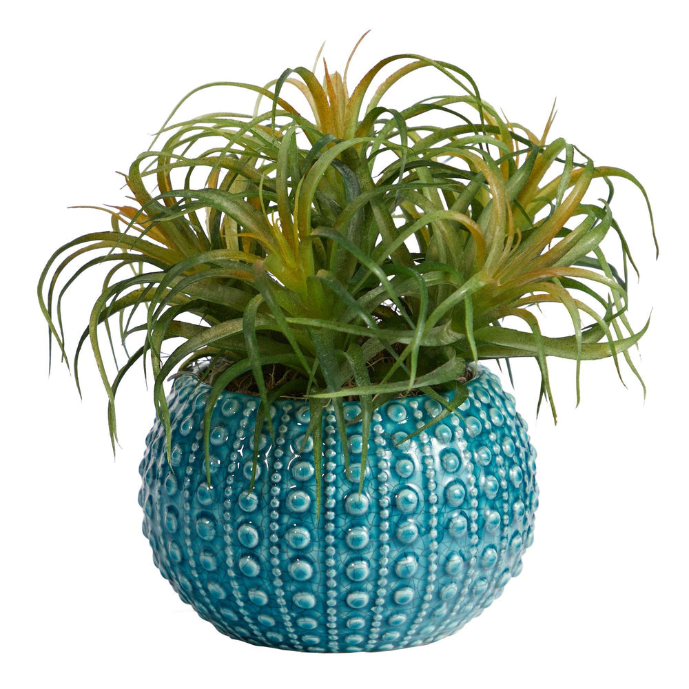 "9"" Tillandsia Artificial Plant in Blue Planter"