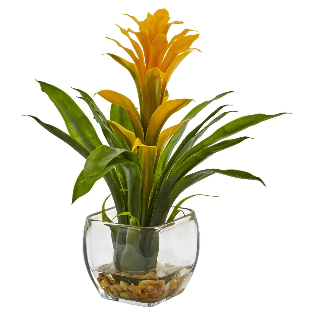Bromeliad With Vase Arrangement 6897 Nearly Natural