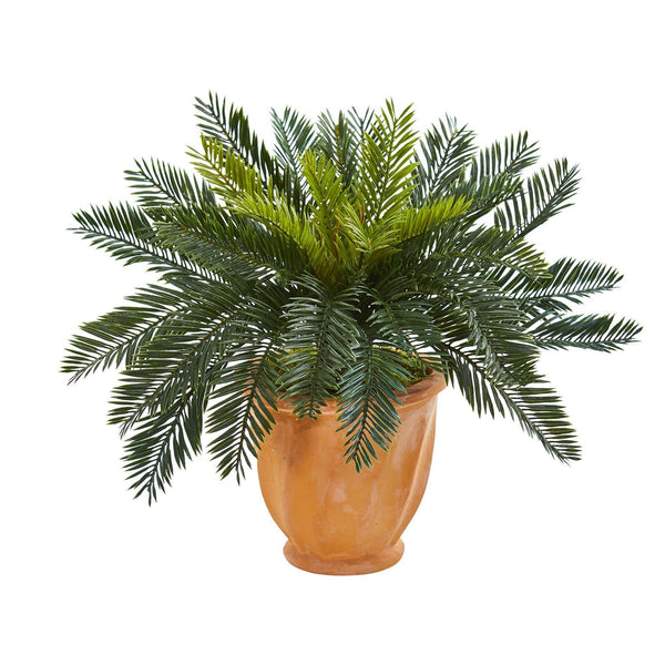 Cycas Artificial Plant In Terracotta Planter Nearly Natural