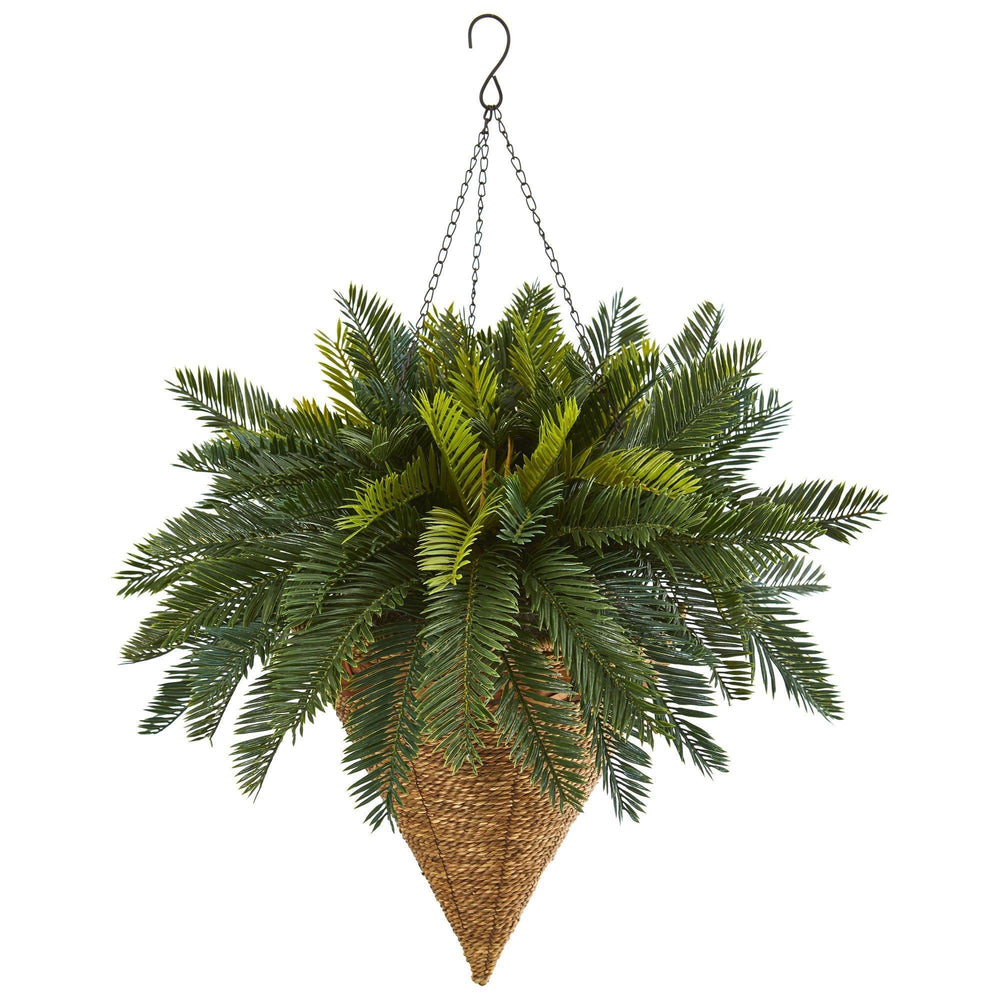 Cycas Hanging Basket Artificial Plant