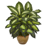 Dieffenbachia Artificial Plant in Ceramic Planter