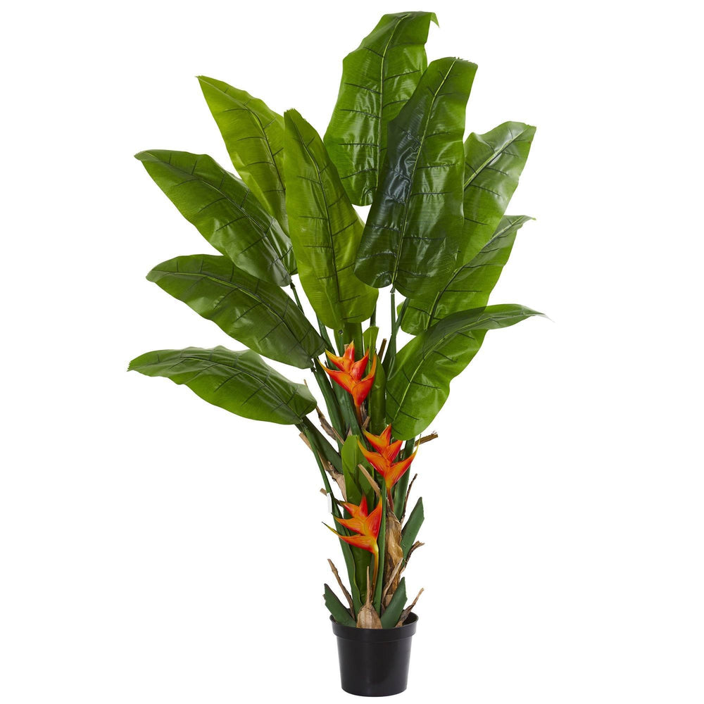 Flowering Travelers Palm Artificial Tree