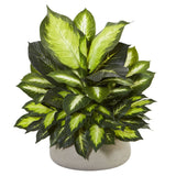 Giant Dieffenbachia Artificial Plant in Stone Planter