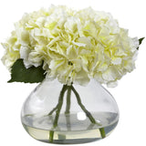 Large Blooming Hydrangea w/Vase