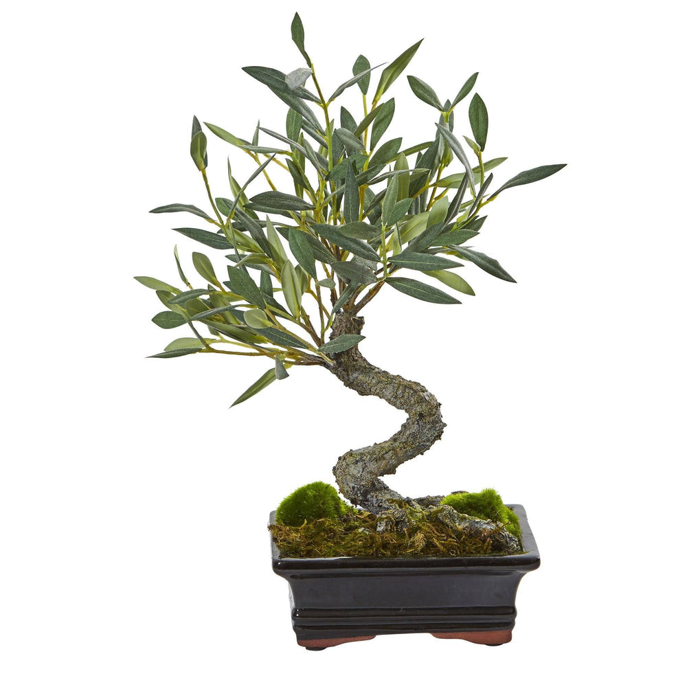 Mini Olive Artificial Bonsai Tree Nearly Natural