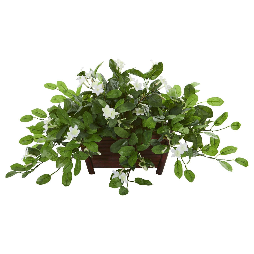 Mix Stephanotis Artificial Plant In Decorative Planter Nearly Natural