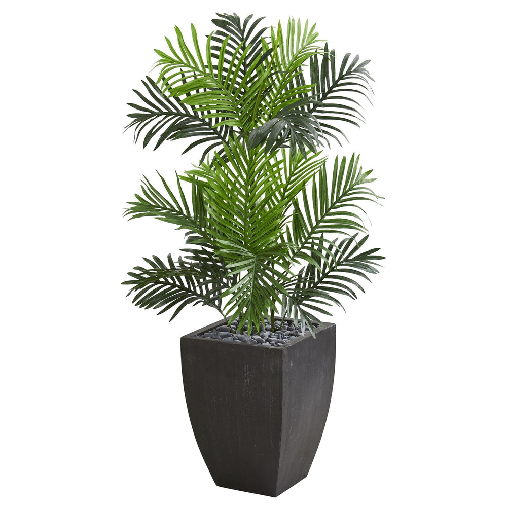 Paradise Palm Artificial Tree in Black Planter