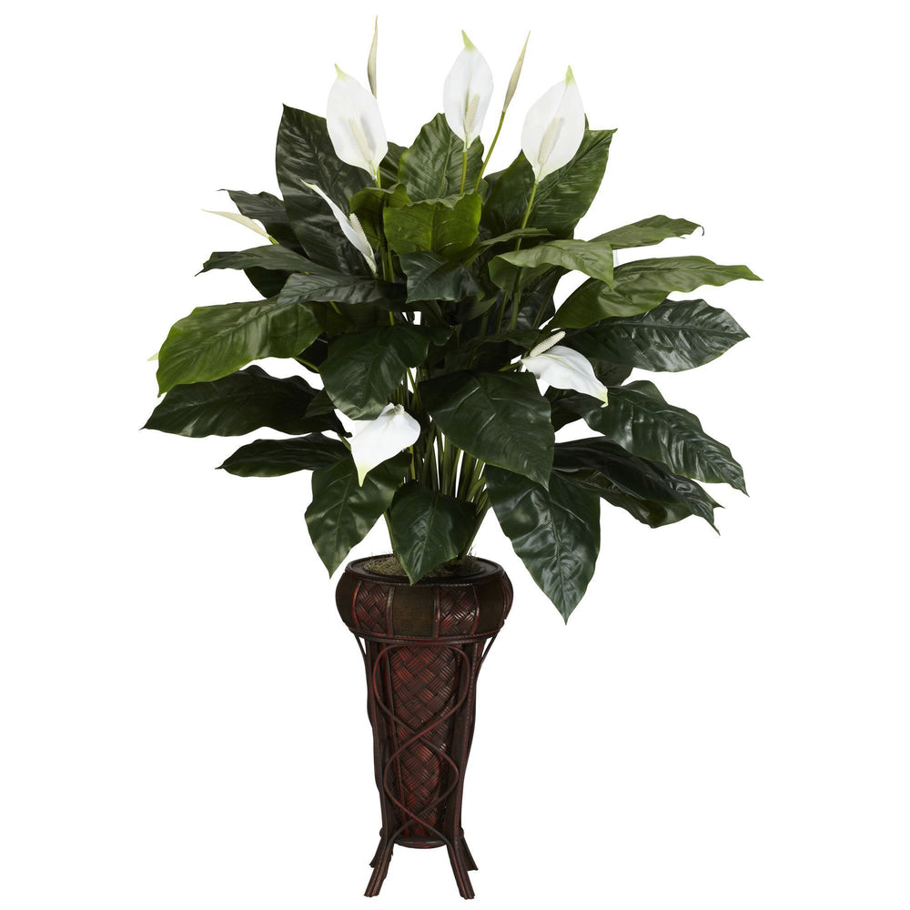 Spathiphyllum w/Stand Silk Plant