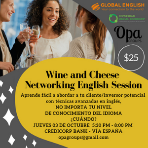 Opa Groups - Wine and Cheese Networking English Session