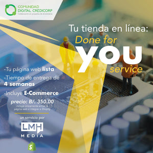 Tu Tienda en Linea: DONE FOR YOU SERVICE