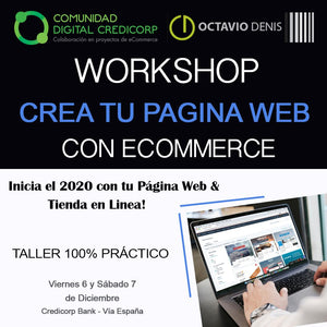 WorkShop Crea tu página Web con eCommerce - 1ra Edición