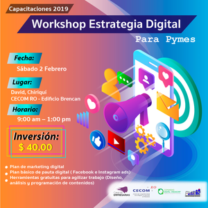 Workshop Estrategia Digital para Pymes - Chiriquí