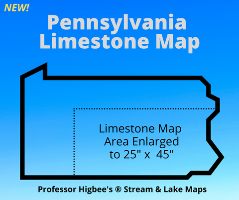 Limestone Stream Map of Pennsylvania