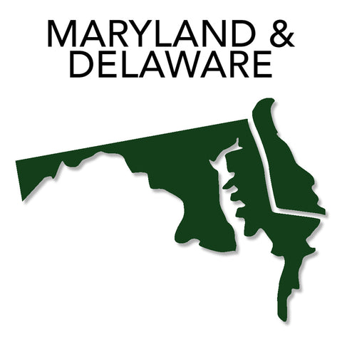 Image of Maryland & Delaware Map