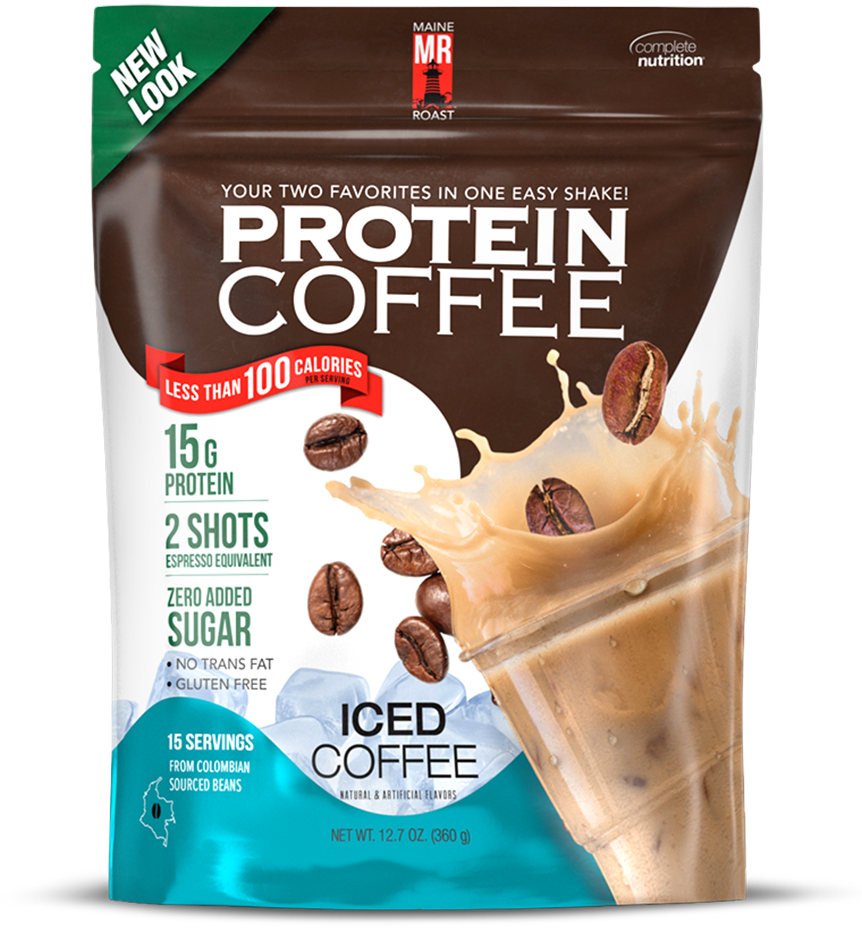 Maine Roast Protein Coffee - Iced Coffee