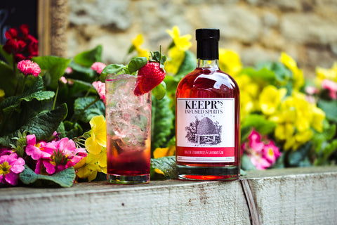 Keepr's English Strawberries and Lavender gin