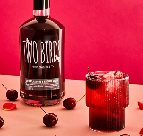 Cherry, Almond and English Vodka Cocktail