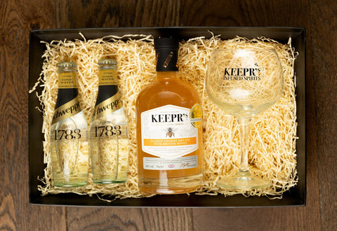 Honey gin gift set