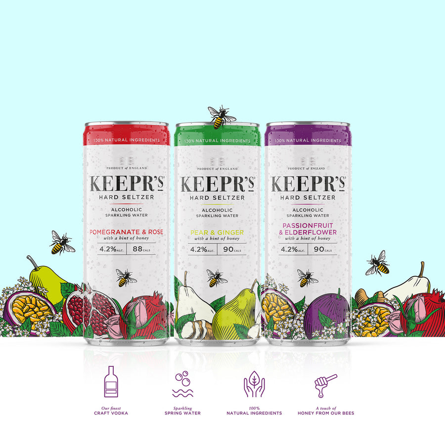 Keepr's Hard Seltzer Mixed Case of 12