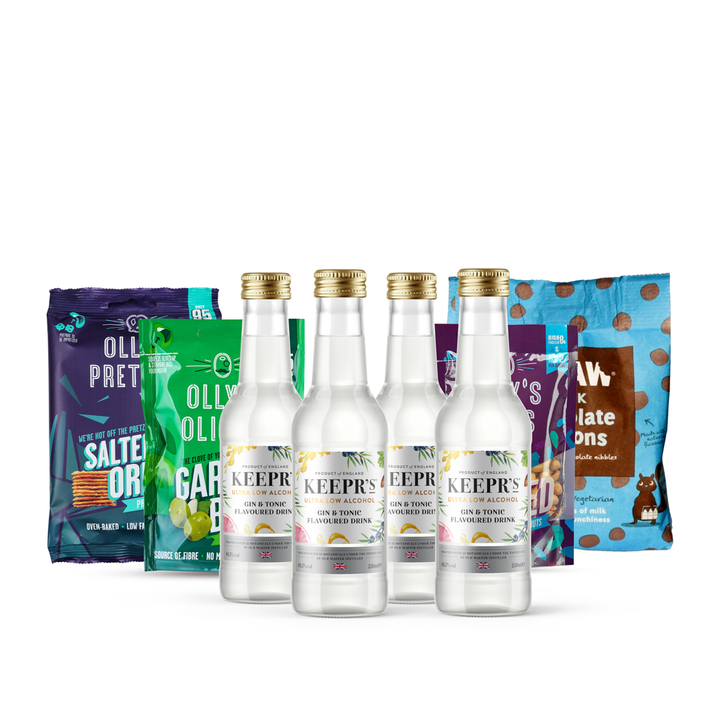 Keepr's Ultra Low Gin Flavoured Tonic & Snacks Gift (CUSTOMISED OPTION AVAILABLE)