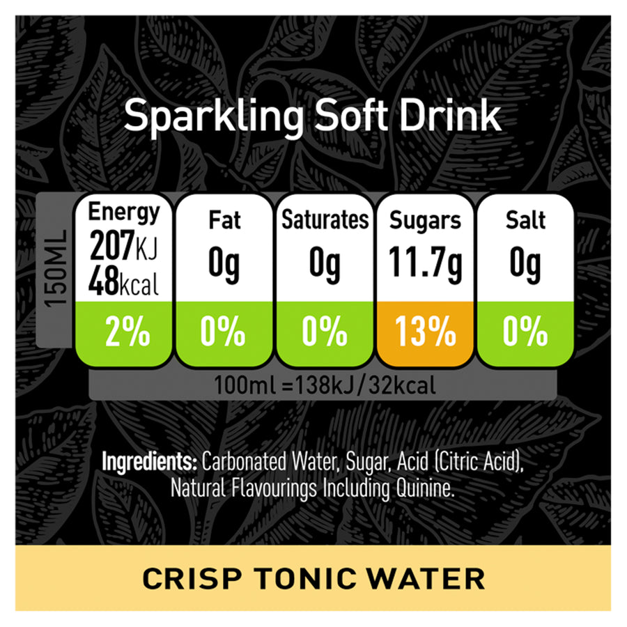 Schweppes Signature Collection Crisp Tonic 6 x 150ml