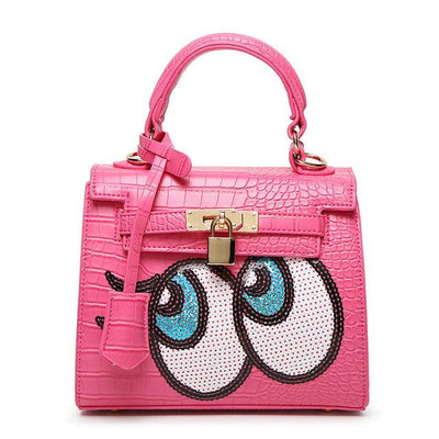 Eco Leather Big Cute Eye Hand/Shoulder Bag