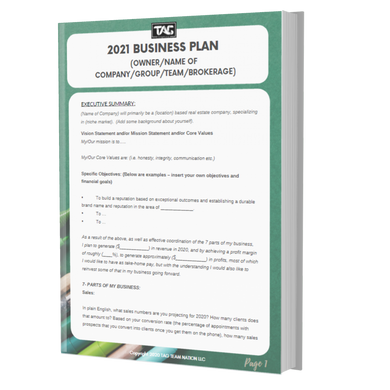 2021 BUSINESS PLAN Template