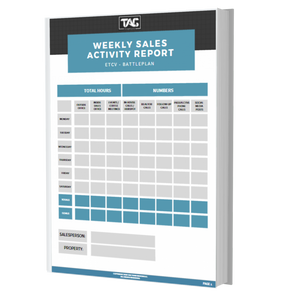 Weekly Sales Activity Report - TAG TEAM