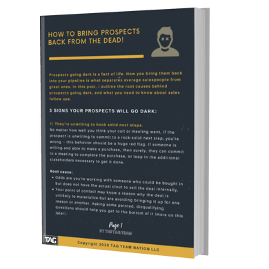 HOW TO BRING PROSPECTS BACK FROM THE DEAD