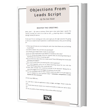 Objections From Leads Script
