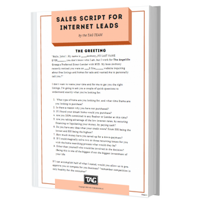 Sales script for internet leads