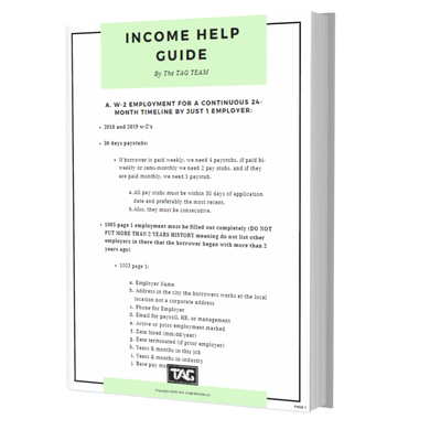 Income Help Guide