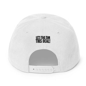 White TAG Snapback Hat
